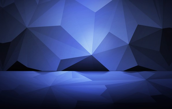 Picture background, corners, faces, polyhedra
