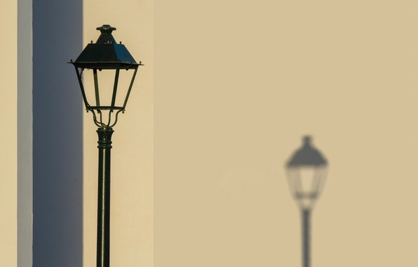 Picture wall, shadow, minimalism, lantern, monochrome