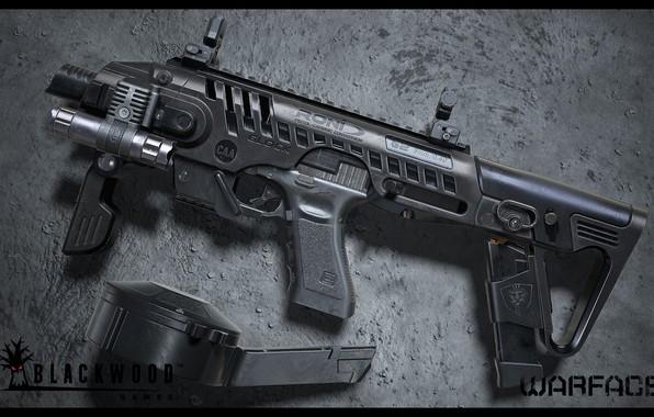 Picture rendering, weapons, gun, weapon, render, custom, Glock, glock, Warface, assault rifle, assault Rifle, Varfeys, Blackwood …