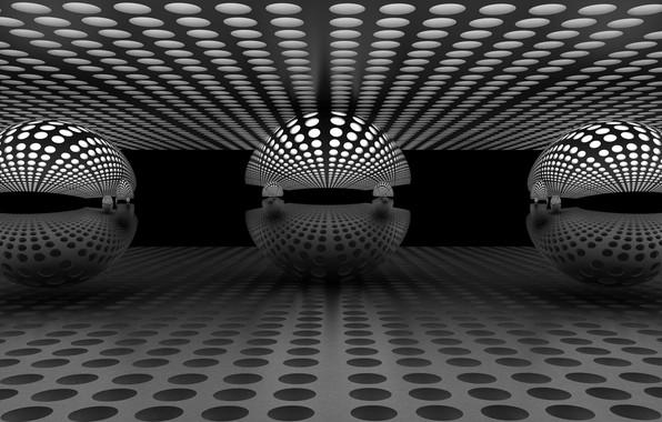 Picture reflection, balls, balls, reflection, Antonyus Bunjamin (Abe)
