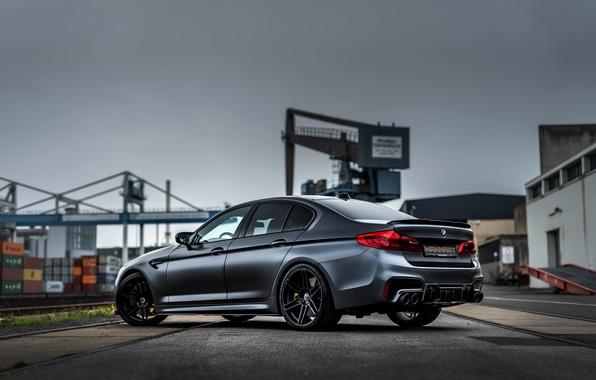Picture BMW, sedan, Biturbo, BMW M5, Manhart, M5, V8, F90, 2019, 4.4 L., leaden sky, MH5 …