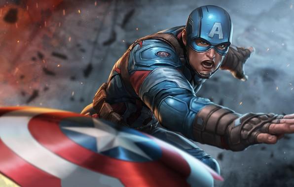 Picture Marvel, Captain America, Comics, Steven Rogers