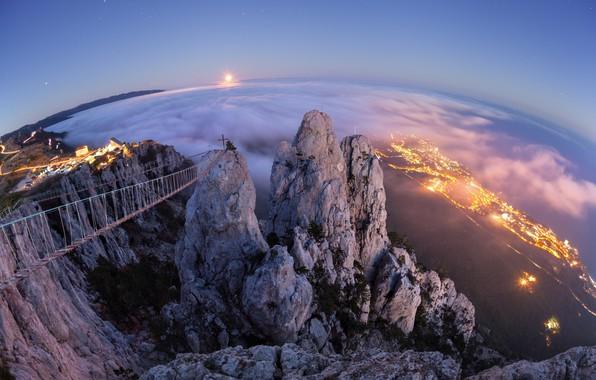 Picture the evening, Crimea, AI-Petri, Yalta, JUBK, Gaspar