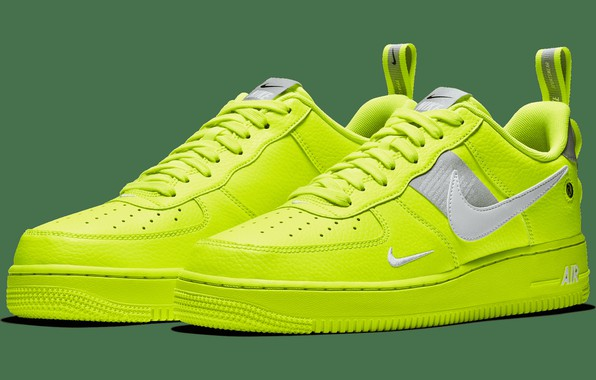 Picture Utility, Volt/ White- Black- Wolf Grey, Nike Air Force 1 '07 Lv8