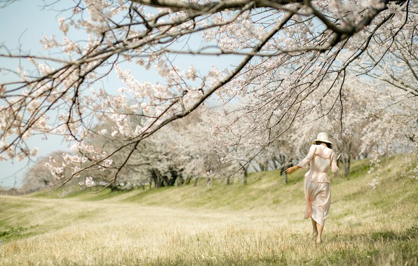Picture girl, nature, spring