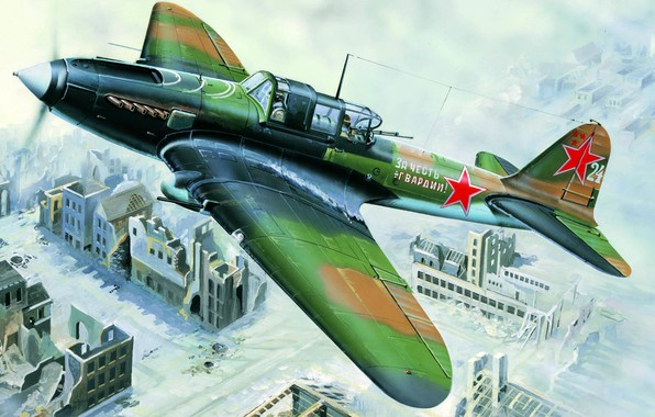 Picture USSR, The red army, Il-2M, Soviet attack aircraft, Vlastimil Suchy