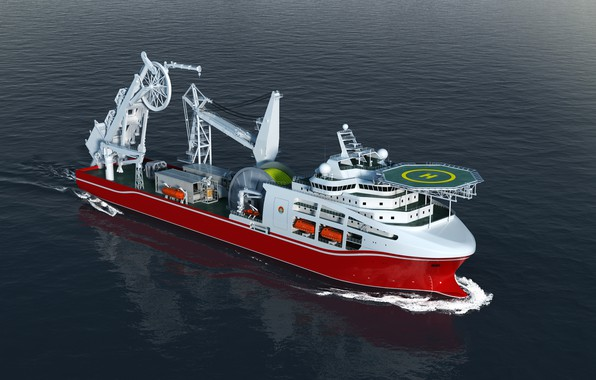 Picture The ocean, Sea, Technique, Rendering, Ship, Vessel, Offshore, Offshore Supply Ship, Supply Ship, Support Vessel, …