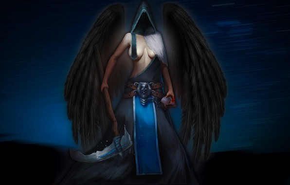 Picture Girl, Figure, Angel, Wings, Braid, Art, Art, madeinkipish, by Anton Matsievsky, Eternals, Anton Matsievsky