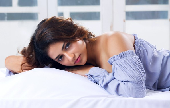 Picture hot, sexy girl, beautiful, on bed, priyanka