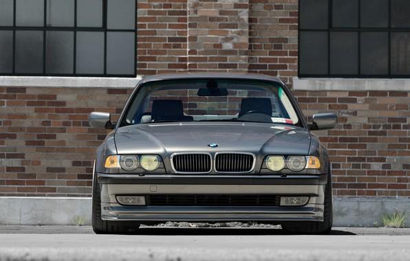 Picture BMW, Classic, Front, Face, Silver, E38, 740Li