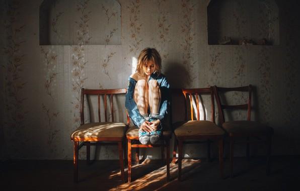 Picture chairs, girl, legs, Marta Gromova, Andrey Vasilyev