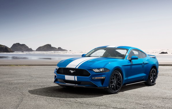 Picture coast, Mustang, Ford, EcoBoost, 2019, Performance Pack