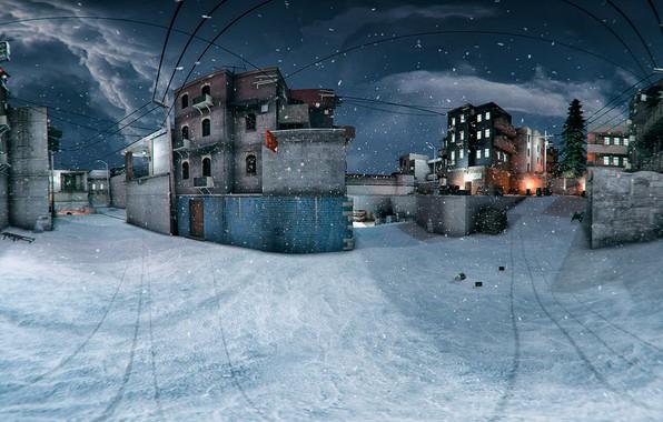 Picture winter, snow, winter, snow, counter-strike, cs go, de_dust2, de_dust2_winter, give, de_dust2_snow (old version)