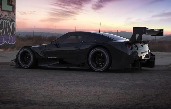 Picture Auto, Machine, Nissan, GT-R, Art, Rendering, Nissan GT-R, NISMO, Sports Car, GT-R NISMO Sports Car, …