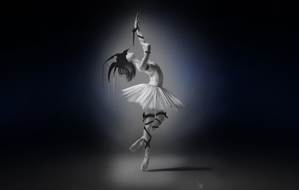 Picture Girl, Minimalism, Figure, Girl, Dance, Background, Art, Ballerina, 6th Nov, Francis Law, by Francis Law