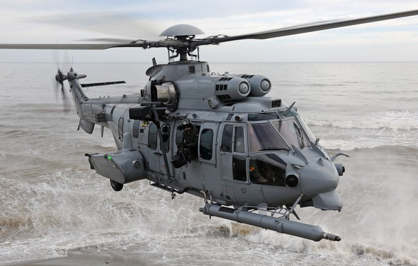 Picture Wave, Helicopter, Foam, The French air force, Airbus Helicopters, Air force, H225, Airbus Helicopters H225M