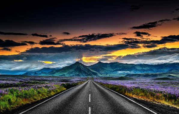 Picture Landscapes, Iceland, Road