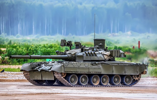 Picture polygon, T-80U, Main battle tank Russia
