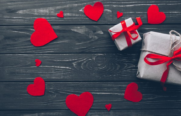 Picture love, gift, heart, hearts, red, love, heart, wood, romantic, valentine's day, gift
