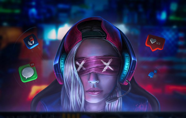 Picture Girl, Headphones, Computer, Face, Girl, Female, Headphones, Face, Headband, Media, Computer, Headband, Social, Messages, Connected, …