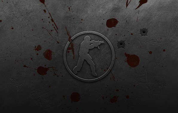 Picture metal, blood, scratches, contra, counter strike, counter strike, bullet holes