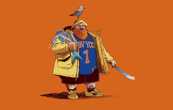 Picture Minimalism, Seagull, Fish, Art, Art, New York, Rap, Knicks, Fan Art, New York Knicks, Hip …