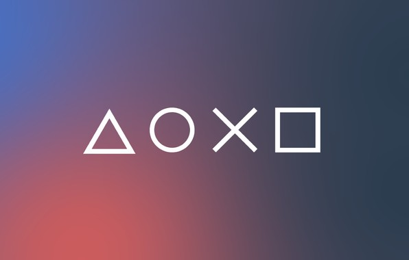 Picture Pink, Blue, Gray, Minimalism, Play Station