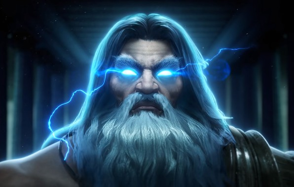 Picture lightning, Zeus, zeus, the God of thunder, god of thunder, smite, the Thunderer