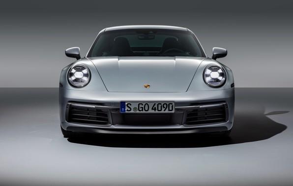 Picture 911, Porsche, front view, Carrera, Carrera 4S, 2019