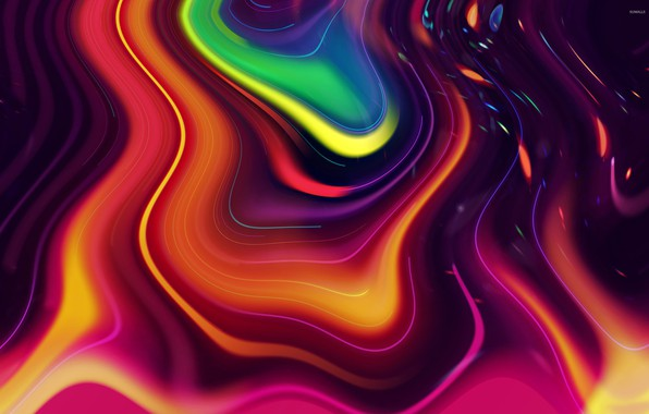 Picture wave, bright colors, abstraction, lava, waves, abstraction, lava, bright colors, смесь цветов, mix of colors