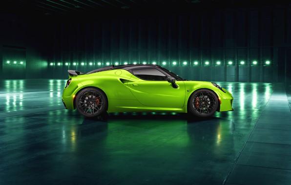 Picture side view, 2018, Green Arrow, Centurion, Alfa Romeo 4C, Pogea Racing