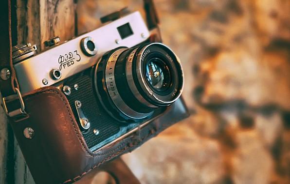 Picture camera, the camera, bokeh, Fed-3