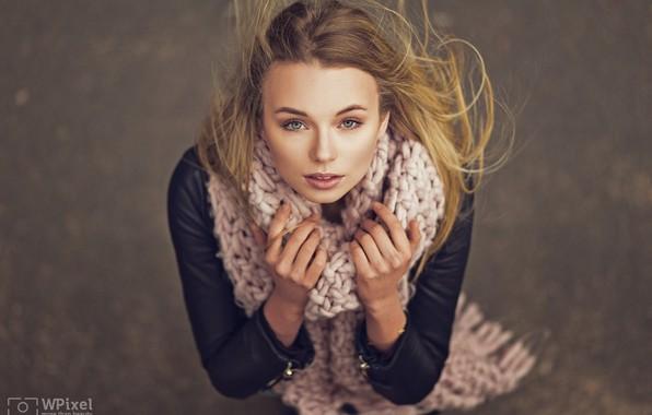 Picture look, the wind, hair, Girl, Wojtek Polaczkiewicz