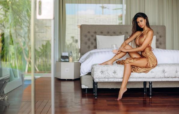 Picture chest, pose, Girl, legs, Alexander Semania