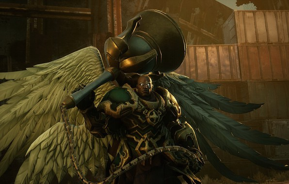 Picture wings, warrior, game, the Archangel, Darksiders III, Uziel