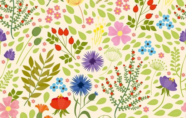 Picture white, Nature, Flowers, BACKGROUND, pattern, FLOWERS, wildflowers, Seamless