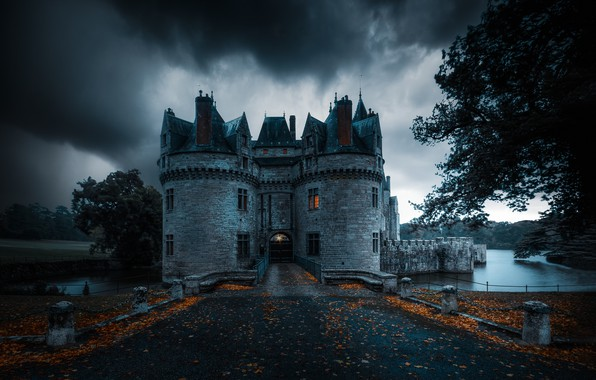 Picture autumn, castle, France, Missillac