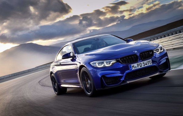 Picture machine, lights, coupe, sports, drives, track, wheel, BMW M4 CS