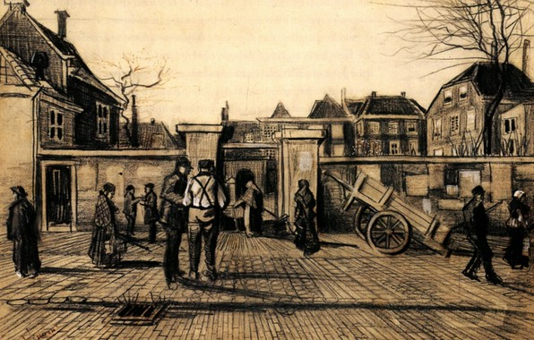 Picture Vincent van Gogh, The Hague, Entrance to the, Pawn Bank