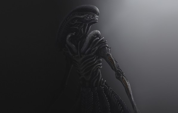 Picture Figure, Stranger, Art, Alien, Aliens, Concept Art, Xenomorph, Dmitrii Ustinov, by Dmitrii Ustinov, SpaceArt