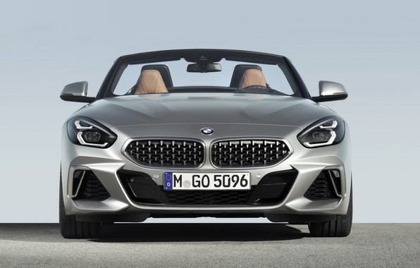 Picture grey, BMW, Roadster, front view, BMW Z4, M40i, Z4, 2019, G29