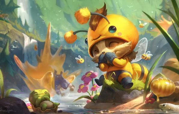 Picture the game, art, bee, League of Legends, children's, suit, Riot Games, Esben Lash Rasmussen, Beemo …
