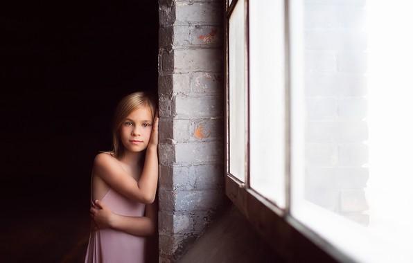 Picture look, window, girl