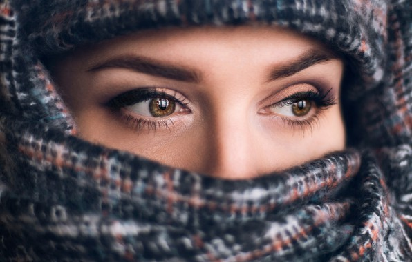 Picture eyes, girl, face, portrait, Elina Garipova