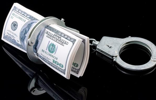 Picture background, money, handcuffs