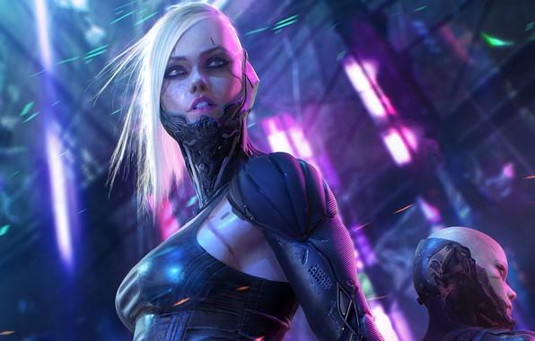 Picture girl, the game, robot, girl, game, plastic, cyborg, robot, plastic, fantasy art, cyborg, cyberpunk 2077, …