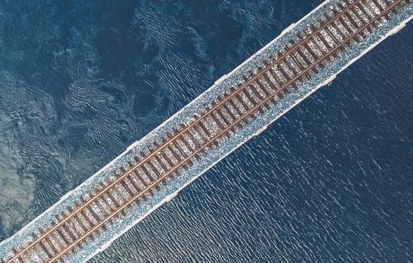 Picture bridge, river, rails, FL, railroad, Bradenton, Florida1, Manatee River, The Manatee River, Bradenton