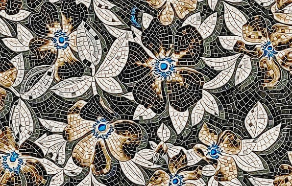 Picture abstraction, background, texture, canvas, floral ornament, acrylic paint, the stained glass pattern