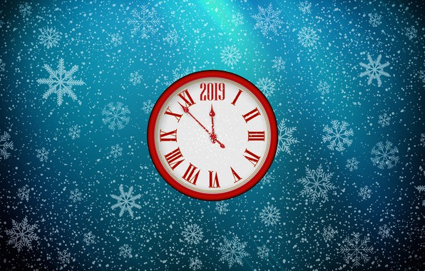 Picture Minimalism, Watch, Christmas, Snowflakes, Background, New year, Holiday, Art, Christmas, Art, Mood, Snow, New Year, …