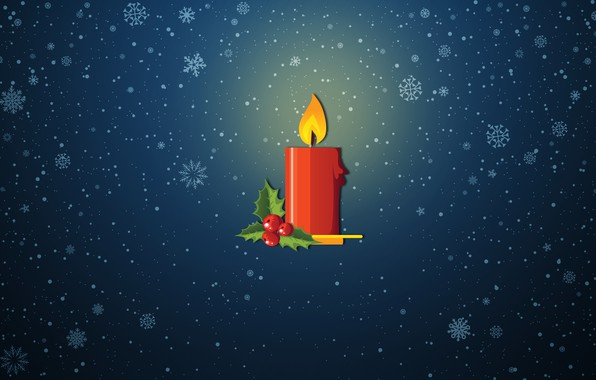 Picture Minimalism, Snow, Fire, Christmas, Snowflakes, Background, New year, Holiday, Art, Christmas, Art, Mood, Snow, New …